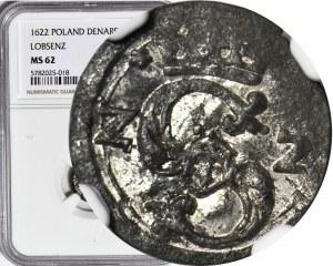 Zygmunt III Waza, Denar 1622, Kraków, menniczy