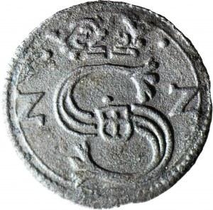 R-, Zygmunt III Waza, Denar 16ZZ, Kraków, R3