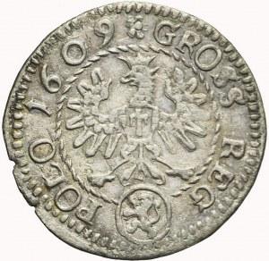 Zygmunt III Waza, grosz 1609, Kraków, Lewart