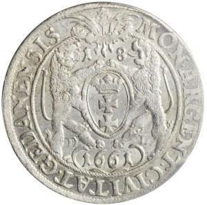 RR-, Jan II Kazimierz, Ort 1661, Gdańsk, hybryda
