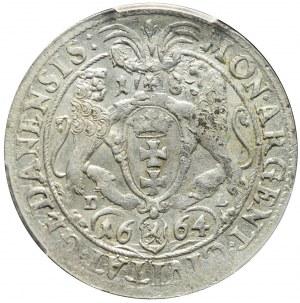 Jan II Kazimierz, Ort 1664, Gdańsk, rzadki