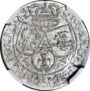 RR-, Jan II Kazimierz, Szóstak 1663, Lwów Ac-pT, bardzo rzadki