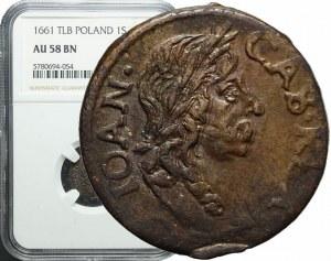 Jan Kazimierz, Szeląg koronny 1661, piękny