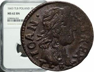 Jan Kazimierz, Szeląg koronny 1663, menniczy