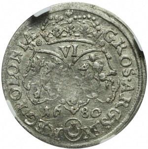 Jan III Sobieski, Szóstak 1680, Bydgoszcz, rozetki, rzadki