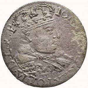 Jan III Sobieski, Szóstak 1682, Kraków, popiersie w koronie, rzadki