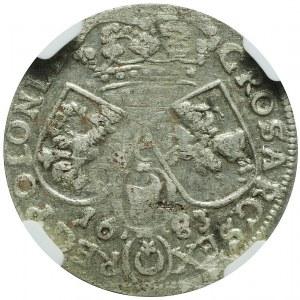R-, Jan III Sobieski, Szóstak 1683, Kraków, litera C, bardzo rzadki