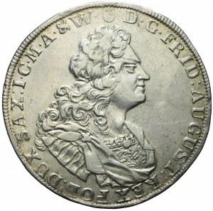 R-, August II Mocny, Talar 1726, Drezno, przebitka daty, bardzo rzadki