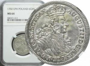 August II Mocny, Szóstak 1702, Lipsk, piękny