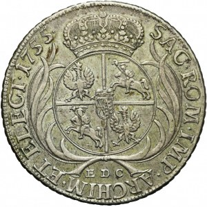 August III Sas, Talar koronny 1755, Lipsk