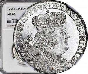 August III Sas, Ort 1754 EC, Lipsk, wyśmienity