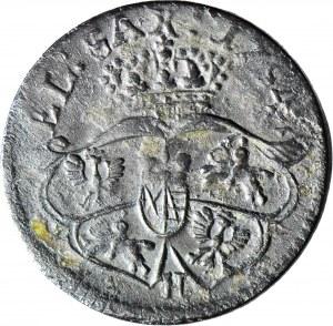 RR-, August III Sas, Grosz 1754 - litera H, anomalny, nie notowany