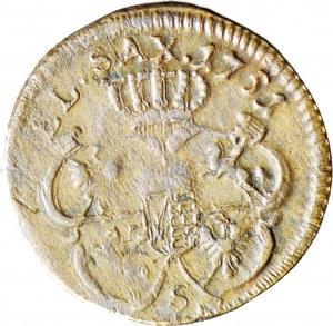 RR-, August III Sas, Szeląg 1751 z literą S, R7