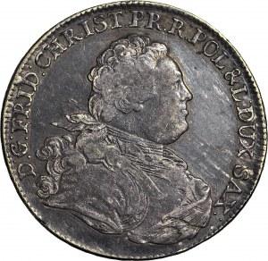 R-, Fryderyk Chrystian, Talar 1763 FW-oF, oznaczenie ST, mennica Drezno