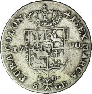 Stanisław A. Poniatowski, Dwuzłotówka 1790 EB, Warszawa