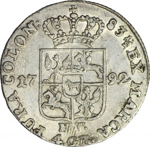 Stanisław A. Poniatowski, Złotówka 1792 MV, ładna
