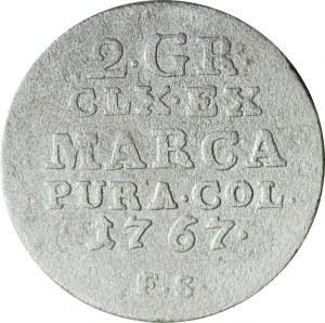 R-, Stanisław A. Poniatowski, Półzłotek 1767 FS rok, fałszerstwo pruskie