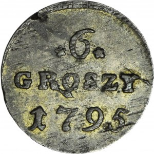Stanisław A. Poniatowski, 6 groszy 1795, ładne