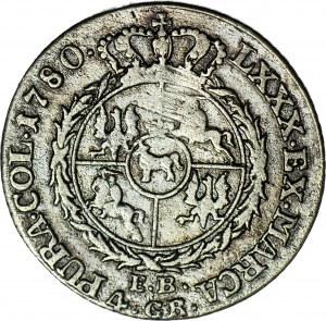 Stanisław A. Poniatowski, Złotówka 1780 EB, rzadkość