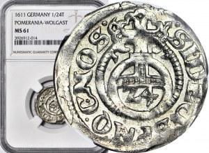 Pomorze, Księstwo Wołogoskie, Filip Juliusz, Grosz 1611, Nowopole, Kop. R1