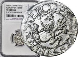 Pomorze, Księstwo Szczecińskie, Filip II, Grosz 1617, Szczecin, Kop. R