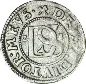 R-, Pomorze, Księstwo Szczecińskie, Bogusław XIV, Podwójny Szeląg 1628, Szczecin, R3