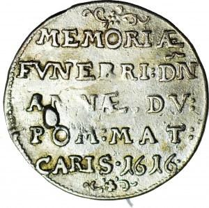 RRR-, Pomorze, Filip II, 1/8 talara 1616, na śmierć żony Bogusława XIII księżnej Anny