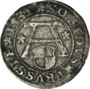 Lenne Prusy Książęce, Albrecht Hohenzollern, Szeląg 1531, Królewiec