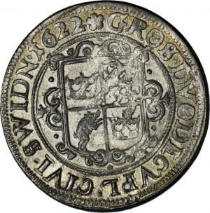 RRR-, Śląsk, miasto Świdnica, Ferdynand II, ĆWIERĆTALAR 1622