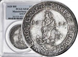 RR-, Śląsk, Księstwa Ziębicko-Oleśnicki, Henryk Wacław i Karol Fryderyk, Półtalar 1620, Oleśnica, R4