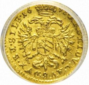 RR-, Śląsk, Leopold I, Wrocław, 1/12 DUKATA 1698, mennicze