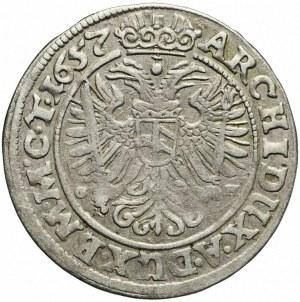 Śląsk, Ferdynand III, 3 krajcary 1657, Wrocław, rzadkie