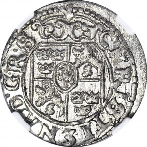 Krystyna Waza, Półtorak 1648, Ryga, Okupacja Szwedzka Inflant, menniczy