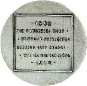 R-, Medal 1912, Aleksander margrabia Wielopolski, SREBRO