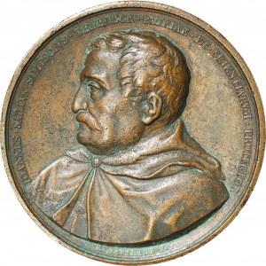 Królestwo Polskie, Medal Jan Zamoyski, medal 1822 brąz 50,5mm, przeniesienie Akademii, rzadki