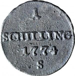 Zabór austriacki, Szeląg 1774, Smolnik, R2