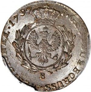 Zabór, Prusy Południowe, Grosz 1797 B, Wrocław, mennicze