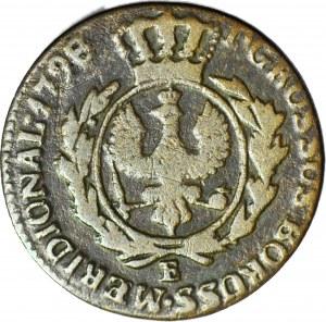 RRR-, Zabór, Prusy Południowe, Grosz 1798 E, Królewiec, pośmiertny