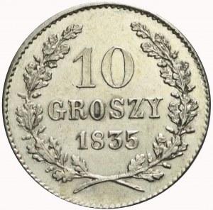 Wolne Miasto Kraków, 10 groszy 1835, bardzo ładne