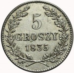 Wolne Miasto Kraków, 5 groszy 1835, mennicze