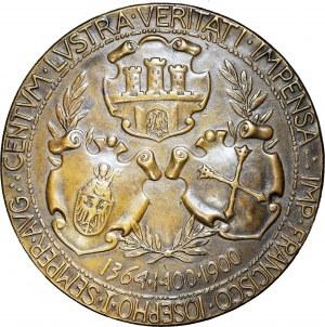 500-lecie Uniwersytetu Jagiellońskiego, Medal, 1900, BRĄZ