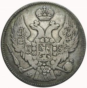 R-, Zabór Rosyjski, 2 złote = 30 kopiejek 1837 MW, rzadkie