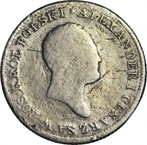 Królestwo Polskie, Aleksander I, 1 złoty 1822 IB, rzadki