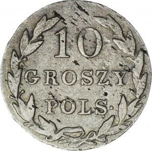 RR-, Królestwo Polskie, 10 groszy 1826 I.B., bardzo rzadkie