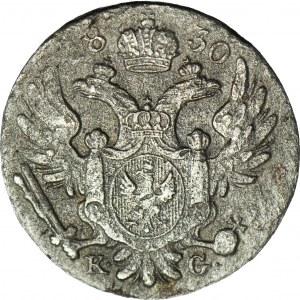 RR-, Królestwo Polskie, 10 groszy 1830 KG, najniższy nakład
