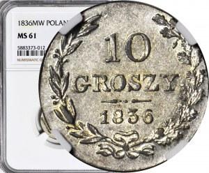 Królestwo Polskie, 10 groszy 1836, mennicze