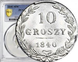 Królestwo Polskie, 10 groszy 1840, mennicze