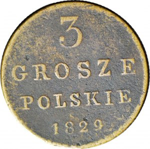 Królestwo Polskie, 3 grosze 1829 FH