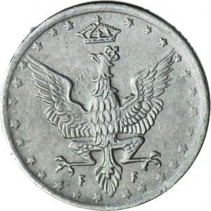 Królestwo Polskie, 5 fenigów 1917 FF, DESTRUKT - duch orła