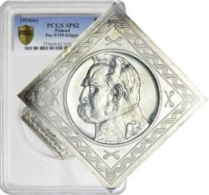 PRÓBA, KLIPA, 10 złotych Piłsudski 1934, mennicza